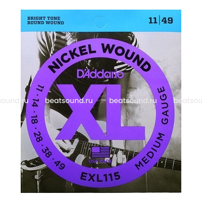 D Addario EXL115 XL NICKEL WOUND струны для электрогитары