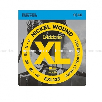 D Addario EXL125 XL NICKEL WOUND струны для электрогитары