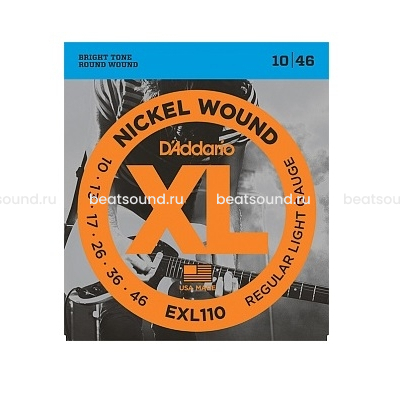 D Addario EXL110 XL NICKEL WOUND струны для электрогитары