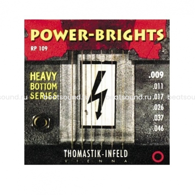 THOMASTIK RP109 Power-Brights Heavy Bottom комплект струн для электрогитары