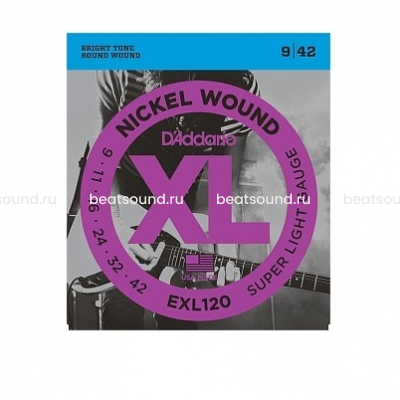 D Addario EXL120 XL NICKEL WOUND струны для электрогитары