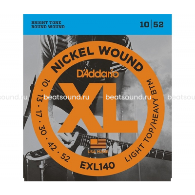 D Addario EXL140 XL NICKEL WOUND струны для электрогитары
