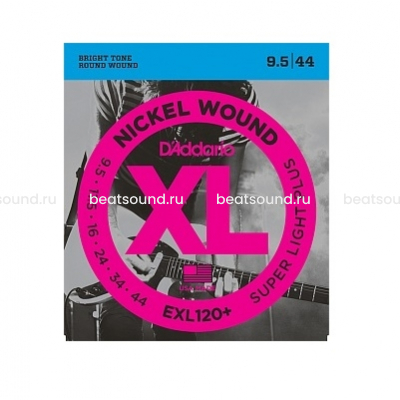 D Addario EXL120+ Nickel Wound комплект струн для электрогитары